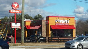 Restaurant de Popeyes Images stock