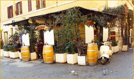 Restaurant de Rome Photo stock