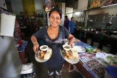 Restaurant de rue dans Ko Chang, Thaïlande Photos stock