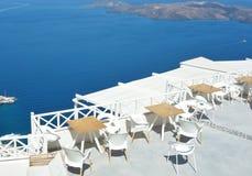 Restaurant de Santorini Photographie stock