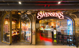 Restaurant de Swensens en Siam Paragon Mall, Bangkok Photo stock