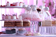 Restaurant de table de Candybar Photographie stock