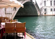 Restaurant de Venise Photo libre de droits