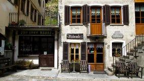 Restaurant de village dans Piémont Images libres de droits