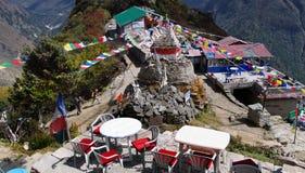 Restaurant de village du Népal Photo stock