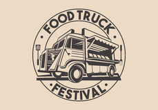 Restaurant Delivery Service Food Truck Vector Logo Royalty Free Stock Photos