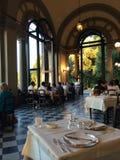 Restaurant in den Hügeln von Toskana Stockbild