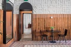 Restaurant in der Dachbodenart Stockfotografie