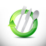 Restaurant 360 design concept illustration design Royalty Free Stock Image