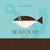 Restaurant design Menu. Menu card for restaurants only fish Stock Photography