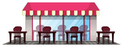 Restaurant design with outdoor dining area Stock Photo