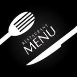 Restaurant design over black background vector illustration Royalty Free Stock Photos
