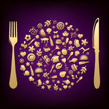 Restaurant Design. Vector Royalty Free Stock Images
