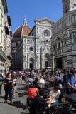 Restaurant dichtbij de kathedraal van Florence, Italië Royalty-vrije Stock Fotografie
