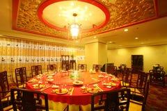 Restaurant dining. Warm light at Restaurant dining room royalty free stock photography