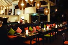 Restaurant dining - Radisson Blu Fiji Royalty Free Stock Photos