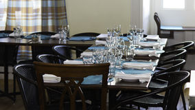 Restaurant dining room. Seating area in a restaurant dining room royalty free stock photo