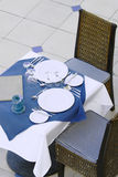 Restaurant dining table. Part a restaurant table, ready to invite somebody stock image