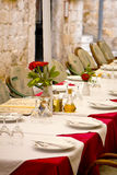 Restaurant dining table Royalty Free Stock Photos