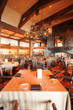 Restaurant dining tables with high ceiling Royalty Free Stock Images
