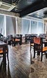 Restaurant dinner modern look stock image