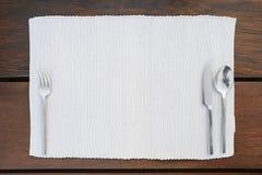 Restaurant dinner place setting Stock Image