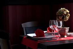 Restaurant dinner table Stock Photos