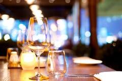 Restaurant dinner table Stock Photo