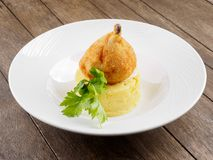 Chicken cutlet on a bone. royalty free stock photos