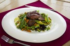restaurant dish - salad with egg Stock Photo