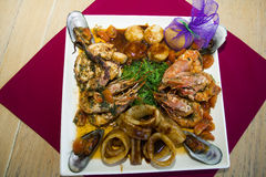 restaurant dish - seafood Royalty Free Stock Photos