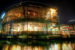 Restaurant in Dockland Royalty Free Stock Photos