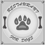 Restaurant for dogs Stock Images
