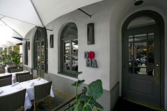 Restaurant DOMA in Beverly Hills. BEVERLY HILLS, USA - MAY 2015 Restaurant DOMA in Beverly Hills Stock Photography