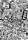 Restaurant Doodle Stock Image