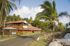 restaurant door Caraïbisch overzees graaneiland Nicaragua Stock Foto's