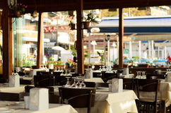 Restaurant door het Overzees Royalty-vrije Stock Foto's