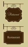 Restaurant door sign. Vintage style Royalty Free Stock Image
