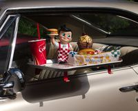 Restaurant drive-in images stock