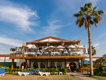 Restaurant of Dubai beach resort Stock Photo