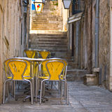 Restaurant in Dubrovnik, Croatia Royalty Free Stock Photo