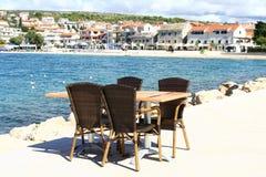 Restaurant durch das Meer Lizenzfreie Stockfotografie
