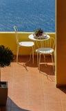 Restaurant durch das Meer Stockbild