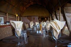 Restaurant in een loge Stock Afbeeldingen