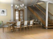 Restaurant een ruimte in het huis Royalty-vrije Stock Afbeeldingen
