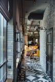 Restaurant in een zolderstijl Royalty-vrije Stock Afbeeldingen
