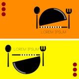 Restaurant Eenvoudig Embleem Royalty-vrije Stock Afbeelding