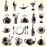 Restaurant elements set. This is file of EPS8 format Stock Images