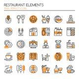 Restaurant Elements Royalty Free Stock Photography