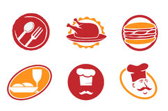 Restaurant emblems and symbols. Set Royalty Free Stock Images